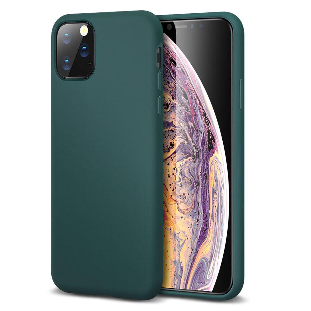 Зеленый силиконовый чехол ESR Yippee Color Pine Green для iPhone 11 Pro Max