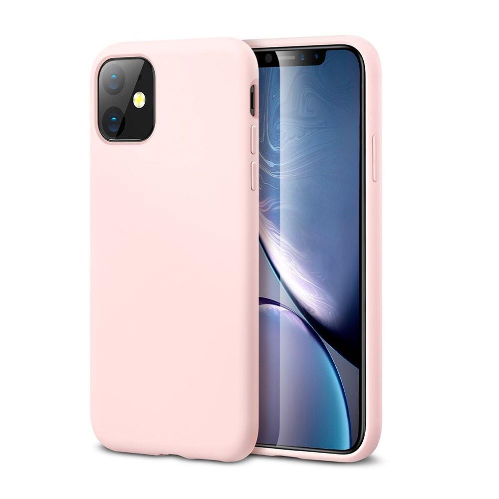 Розовый силиконовый чехол ESR Yippee Color Pink для iPhone 11