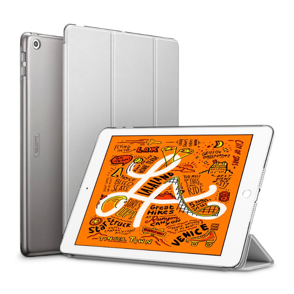 Магнитный кожаный чехол ESR Yippee Trifold Smart Case Silver Gray для iPad mini 5 | 4