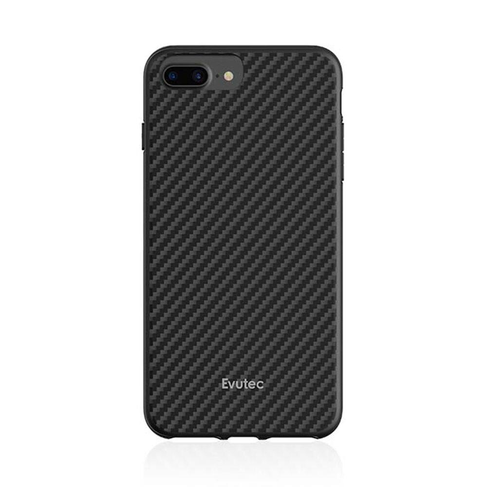 Противоударный чехол Evutec AER Series Karbon Black для iPhone 8 Plus/7 Plus/6s Plus/6 Plus с магнитным автодержателем