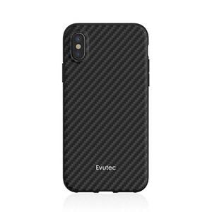 Купить Противоударный чехол Evutec AER Series Karbon Black для iPhone X с магнитным автодержателем