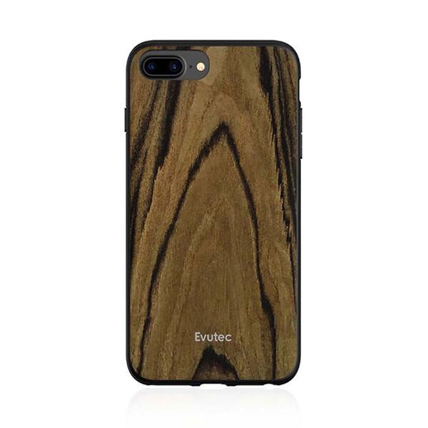 Противоударный чехол Evutec AER Series Wood Burmese Rosewood для iPhone 8 Plus | 7 Plus | 6s Plus | 6 Plus с магнитным автодержателем