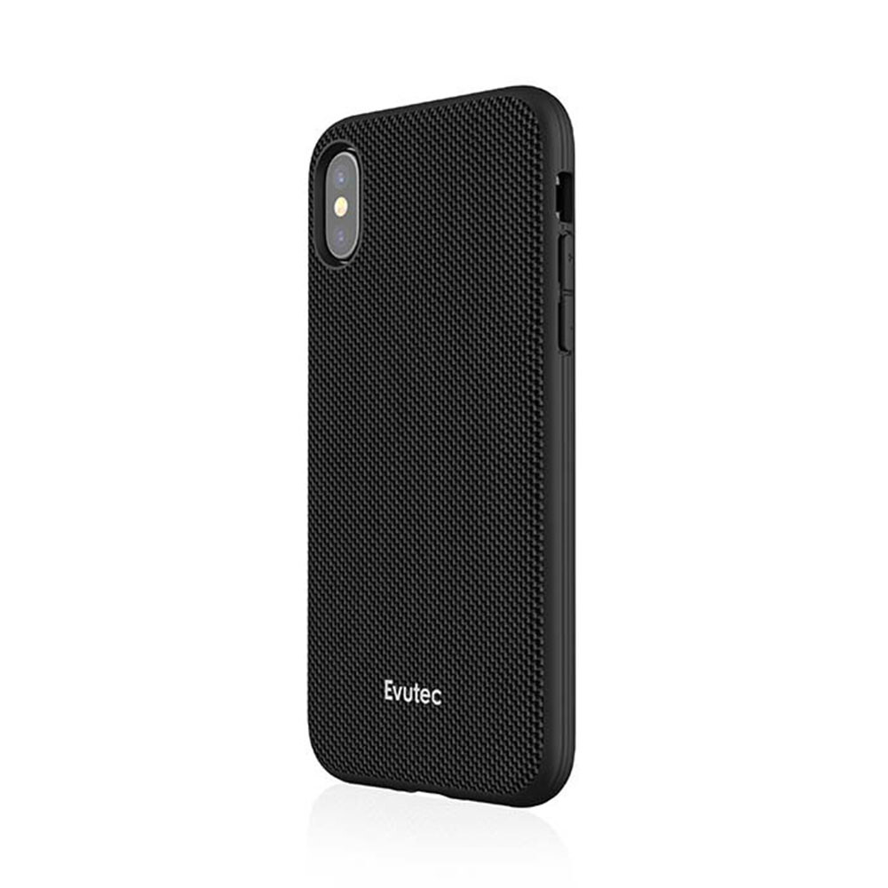 Противоударный чехол Evutec AERGO Series Ballistic Nylon Black для iPhone X с магнитным автодержателем