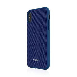 Купить Противоударный чехол Evutec AERGO Series Ballistic Nylon Blue для iPhone X/XS с магнитным автодержателем