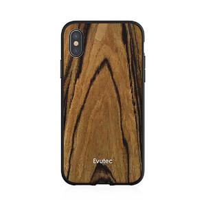 Купить Противоударный чехол Evutec AER Series Wood Burmese Rosewood для iPhone X с магнитным автодержателем