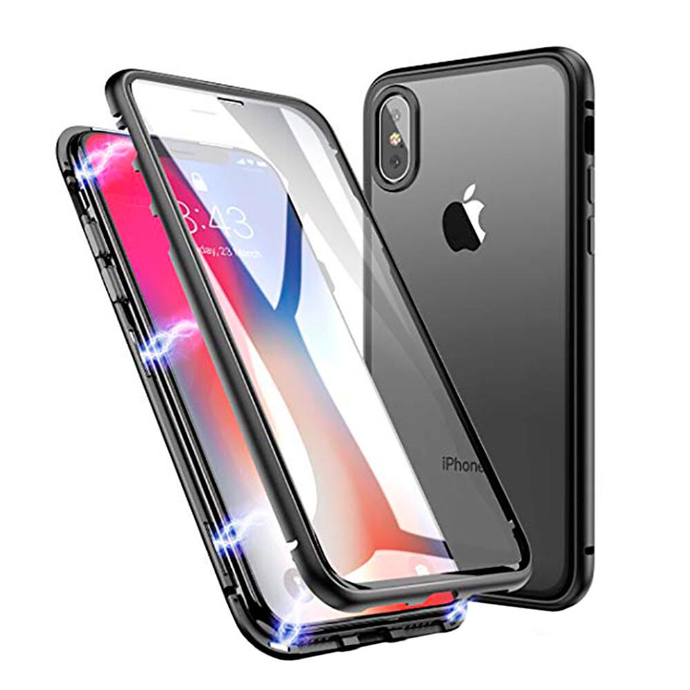 Магнитный чехол Glass Magnetic Case для iPhone X/XS