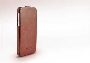 Купить Коричневый кожаный чехол HOCO Fashion Royal Series для iPhone 5/5S/SE