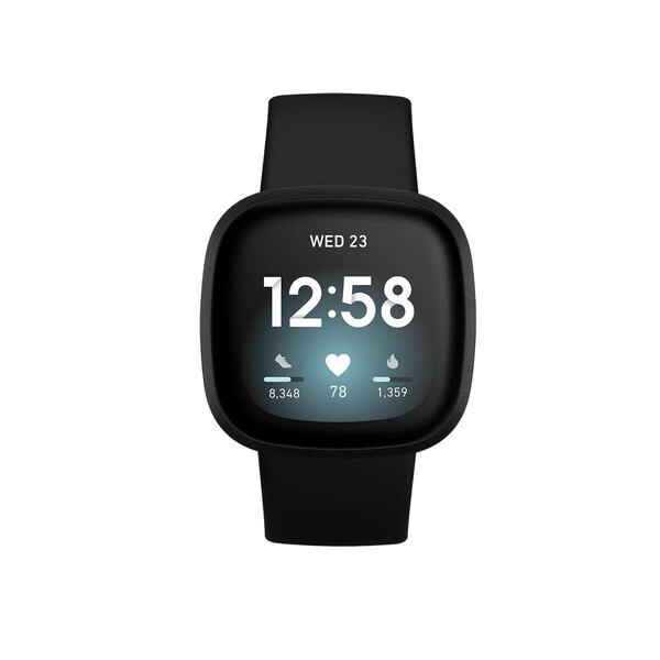 Умные смарт-часы Fitbit Versa 3 Black | Black Aluminum