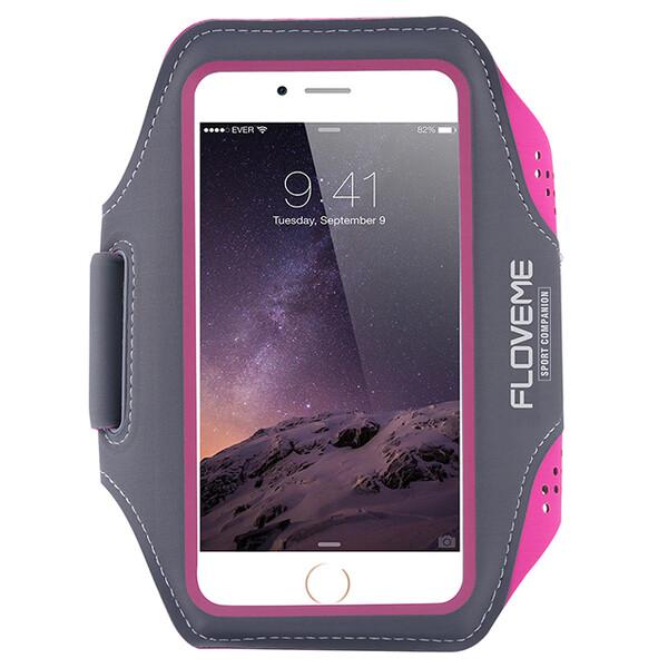 Спортивный чехол Floveme Hot Pink для iPhone X | XS | 8 Plus | 7 Plus | 6s Plus | 6 Plus