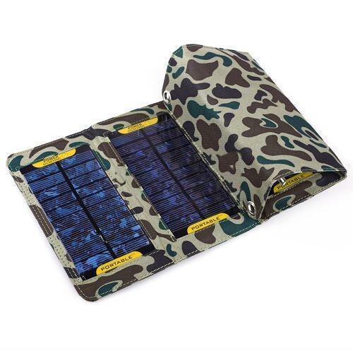 Камуфляжная складная солнечная зарядка для iPad/iPhone/iPod & Mobile