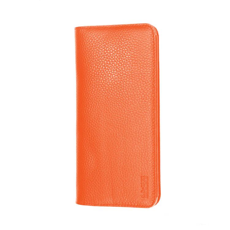 """Чехол из натуральной кожи G-Сase Elegant Series Wallet Orange для смартфонов 6"""""""