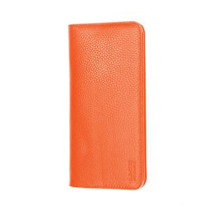"""Купить Чехол из натуральной кожи G-Сase Elegant Series Wallet Orange для смартфонов 6"""""""