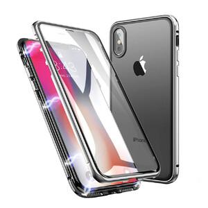 Купить Магнитный чехол oneLounge Glass Magnetic Silver для iPhone X/XS