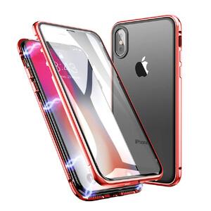 Купить Магнитный чехол oneLounge Glass Magnetic Red для iPhone X/XS