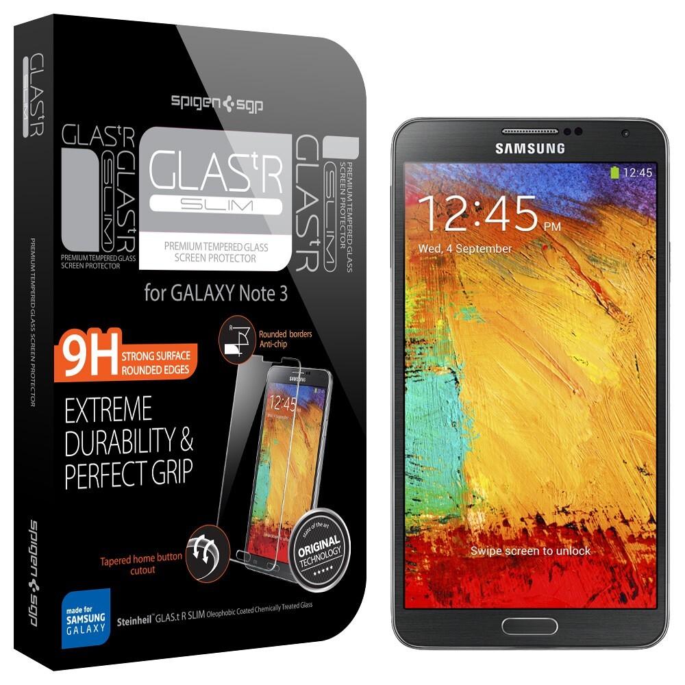 Защитное стекло Spigen GLAS.tR SLIM для Galaxy Note 3