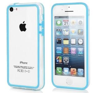 Купить Прозрачный голубой бампер для iPhone 5C