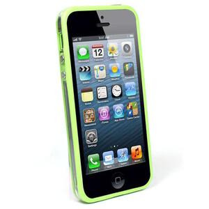 Купить Прозрачный бампер с салатовым ободком для iPhone 5/5S/SE