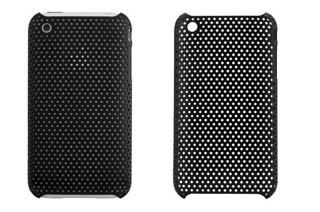 Пластиковый черный чехол Grid для iPhone 3G/3GS