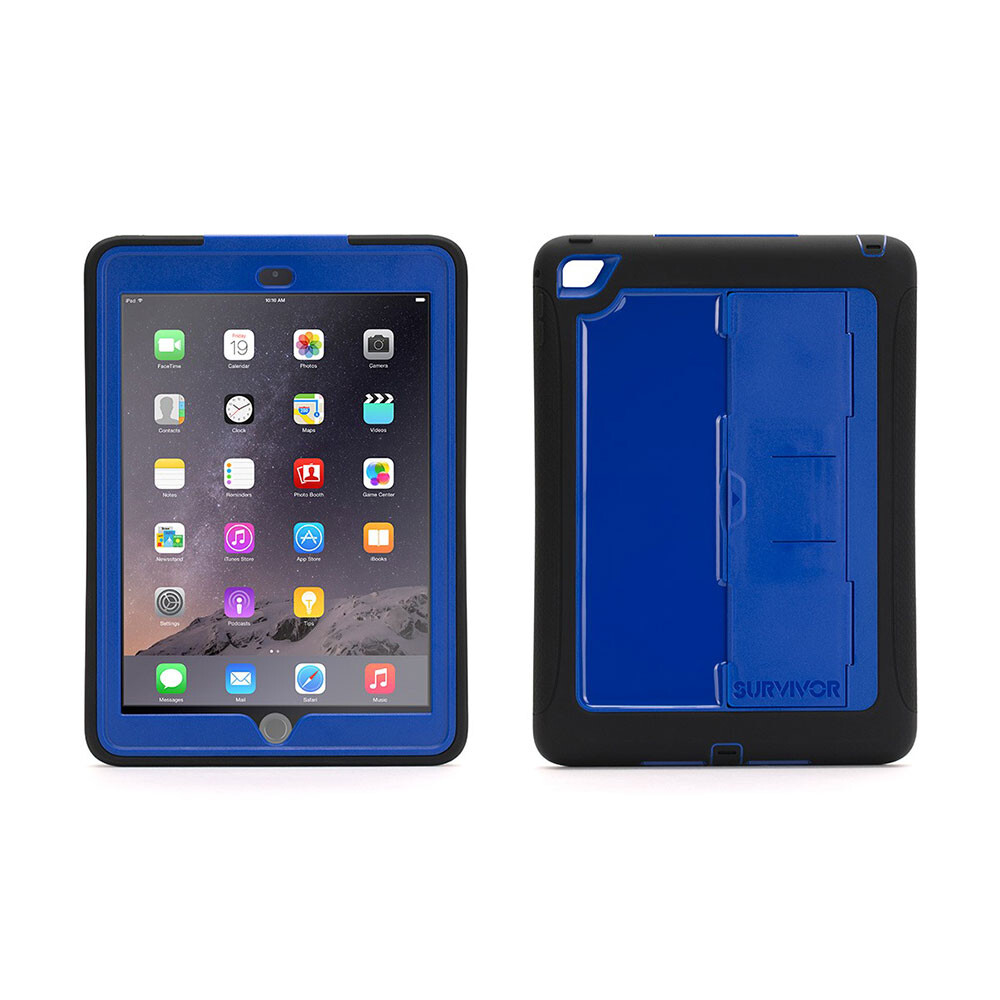 Чехол Griffin Survivor Slim Black/Blue для iPad Air 2