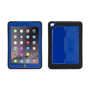 Купить Чехол Griffin Survivor Slim Black/Blue для iPad Air 2
