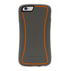 Купить Чехол Griffin Survivor Slim Grey для iPhone 6 Plus/6s Plus