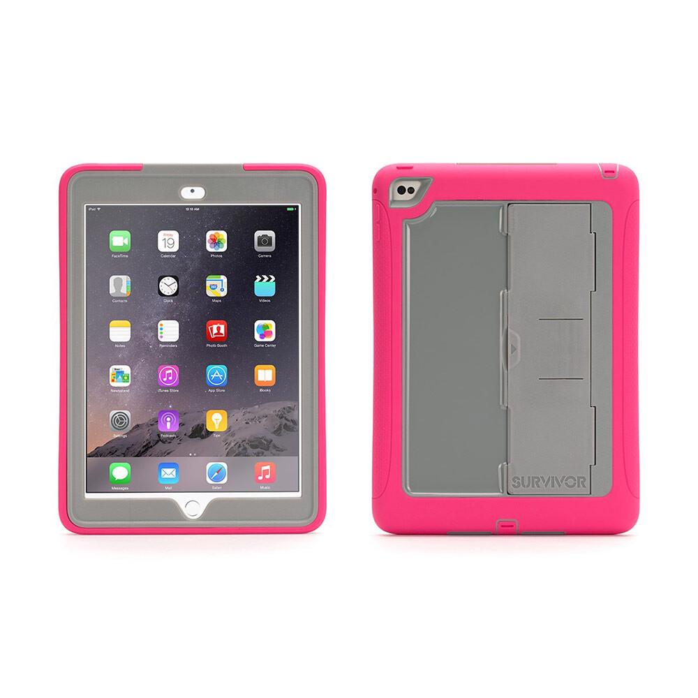 Чехол Griffin Survivor Slim Pink/Grey для iPad Air 2