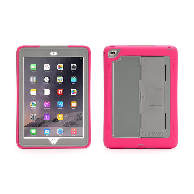 Чехол Griffin Survivor Slim Pink/Grey для iPad Air 2