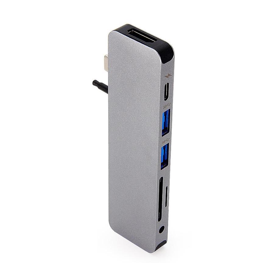Купить Хаб (адаптер) HyperDrive SOLO 7-in-1 USB-C PD 4K30Hz HDMI для MacBook | iPad Space Gray