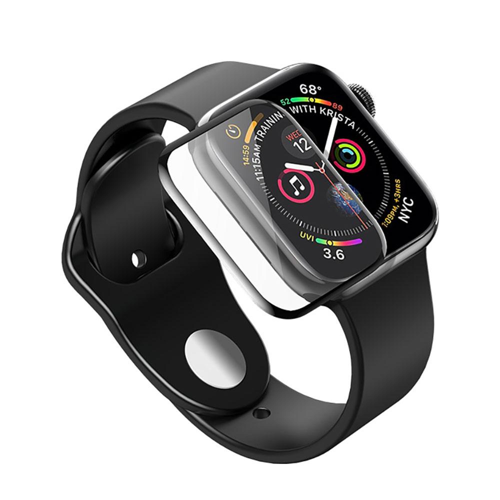 Купить Защитное стекло HOCO 3D Curved Tempered Glass Black для Apple Watch 44mm SE | 6 | 5 | 4
