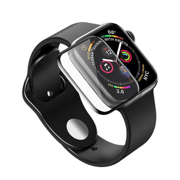 Защитное стекло HOCO 3D Curved Tempered Glass Black для Apple Watch 44mm SE | 6 | 5 | 4