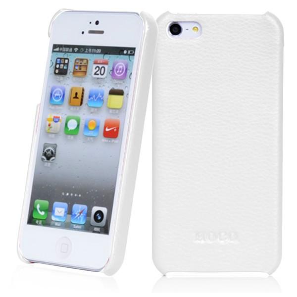 Белая кожаная накладка HOCO Fashion для iPhone 5/5S/SE