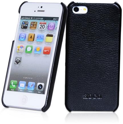Черная кожаная накладка HOCO Fashion для iPhone 5/5S/SE