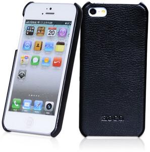 Купить Черная кожаная накладка HOCO Fashion для iPhone 5/5S/SE