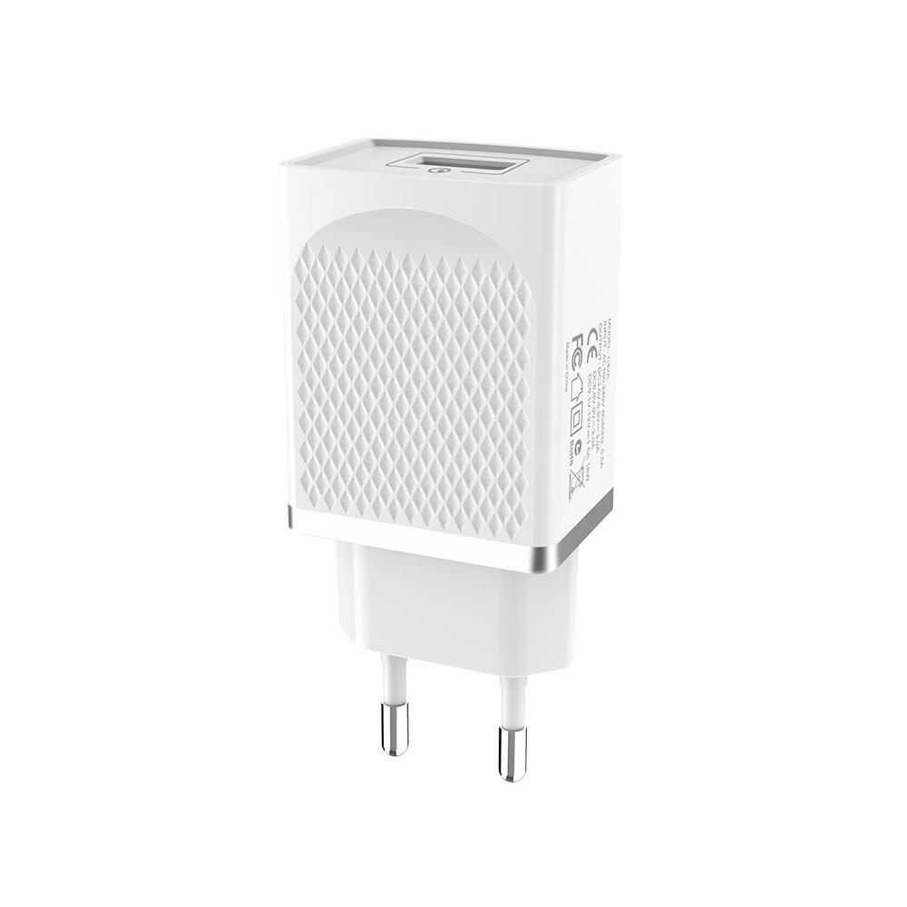 Быстрое зарядное устройство HOCO C42A Vast power QC3.0 White