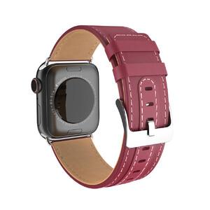 Купить Кожаный ремешок HOCO WB04 Duke Series Red для Apple Watch 42m/44mm Series 5/4/3/2/1
