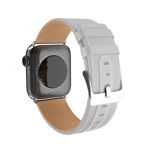 Купить Кожаный ремешок HOCO WB04 Duke Series Gray для Apple Watch 42mm/44mm Series 1/2/3/4