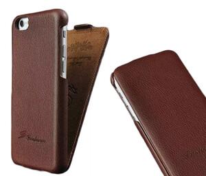 Купить Коричневый флип-чехол HOCO Floveme для iPhone 6/6s