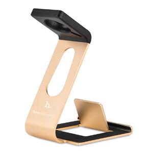 Купить Алюминиевая док-станция HOCO Multifunction Gold для Apple Watch