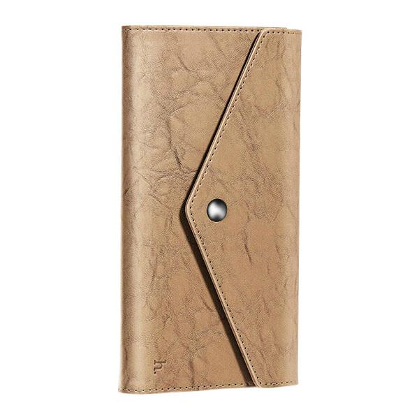 Коричневый кошелек HOCO Multifunctional Wallet с карманом для телефона