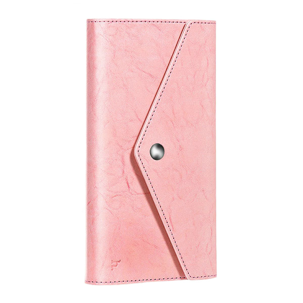 Розовый кошелек HOCO Multifunctional Wallet с карманом для телефона