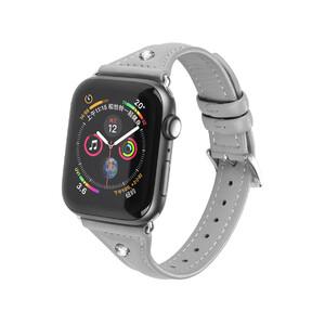 Купить Кожаный ремешок Hoco Ocean Wave Gray для Apple Watch 38mm/40mm Series 5/4/3/2/1