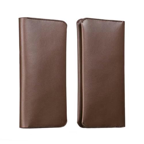 Кожаный чехол HOCO Portfolio Series Coffee для iPhone/Galaxy
