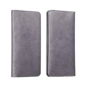 Купить Кожаный чехол HOCO Portfolio Series Gray для iPhone/Galaxy