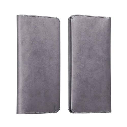 Кожаный чехол HOCO Portfolio Series Gray для iPhone/Galaxy
