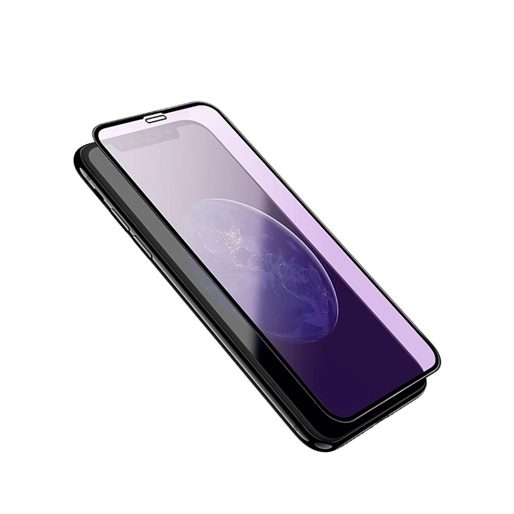 Купить Защитное стекло HOCO Shatterproof Edges Anti-Blue Ray A4 Black для iPhone 11 | XR