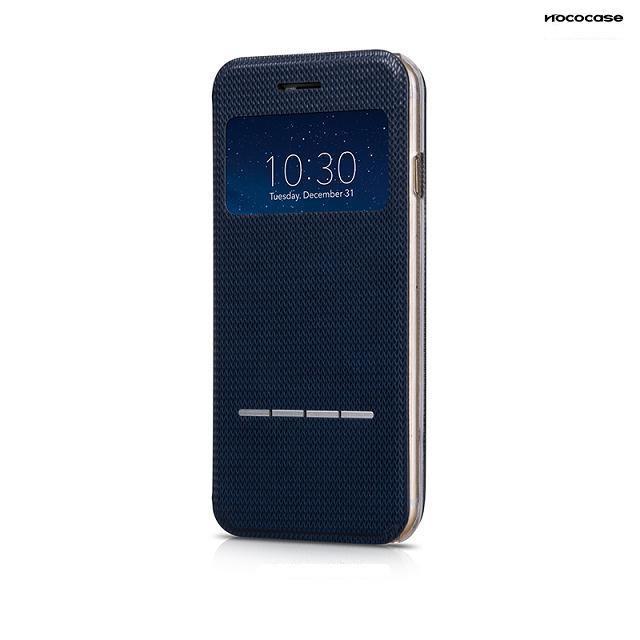 Чехол HOCO Smart Slide Leather Blue для iPhone 6/6s
