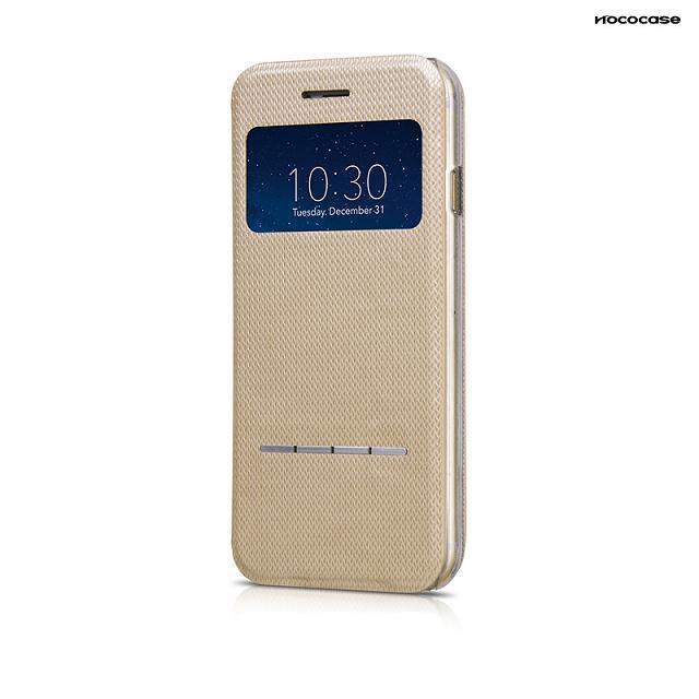 Чехол HOCO Smart Slide Leather Champagne для iPhone 6/6s