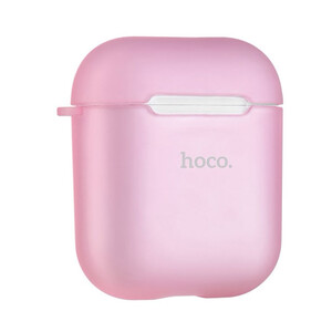 Купить TPU чехол HOCO Soft Case Pink для Apple Airpods