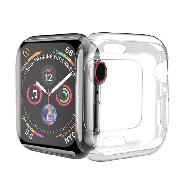 Силиконовый чехол HOCO TPU Case Transparent для Apple Watch 44mm SE   6   5   4