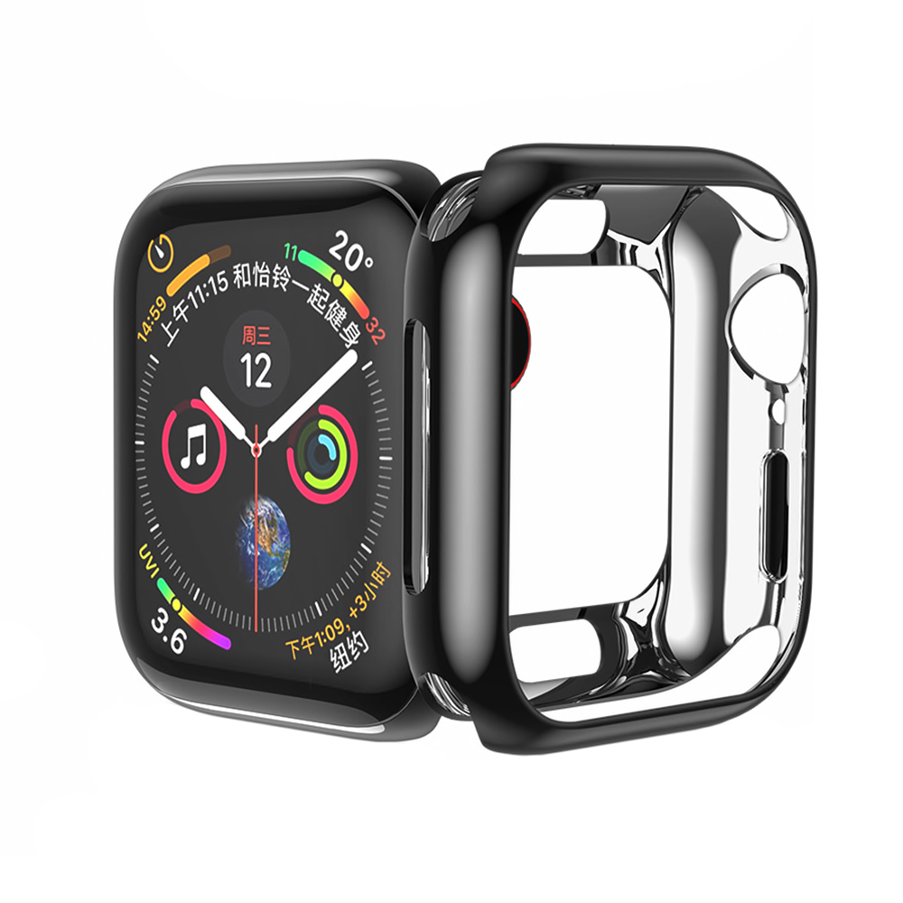 Купить Силиконовый чехол HOCO TPU Case Black для Apple Watch 44mm SE | 6 | 5 | 4